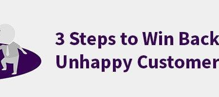 HappyOrNot blog post: 3 Steps to win back unhappy customers