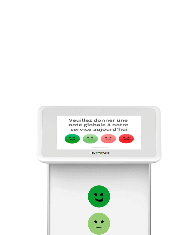 HappyOrNot Smiley Touch- Tactile Smileys - Tablette de mesure de la satisfaction client