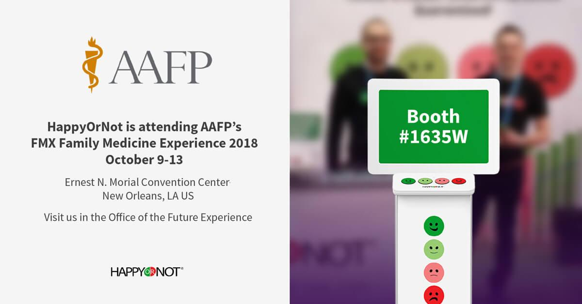 aafp, fmx, family medicine convention, happyornot, patient experience, patient satisfaction, patient retention program, patient retention strategies, patient satisfaction convention