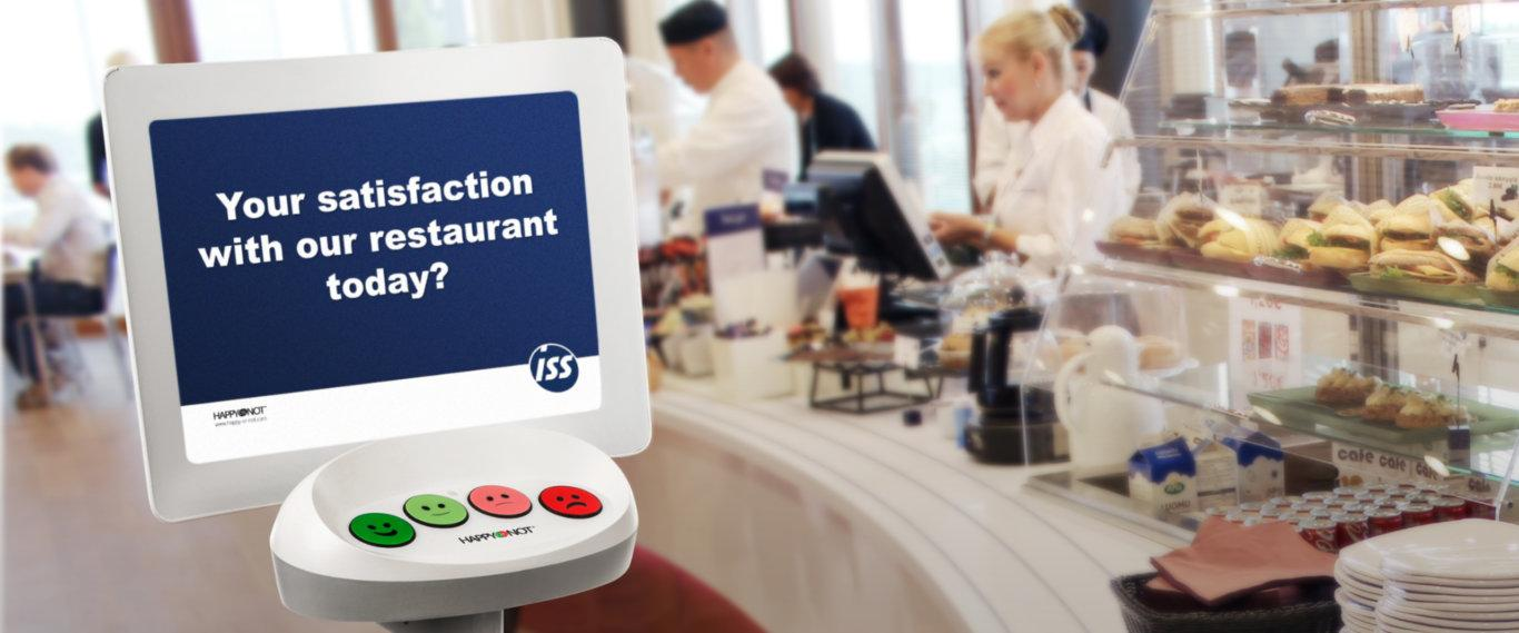ISS improves dining experience with HappyOrNot real-time customer experience solution