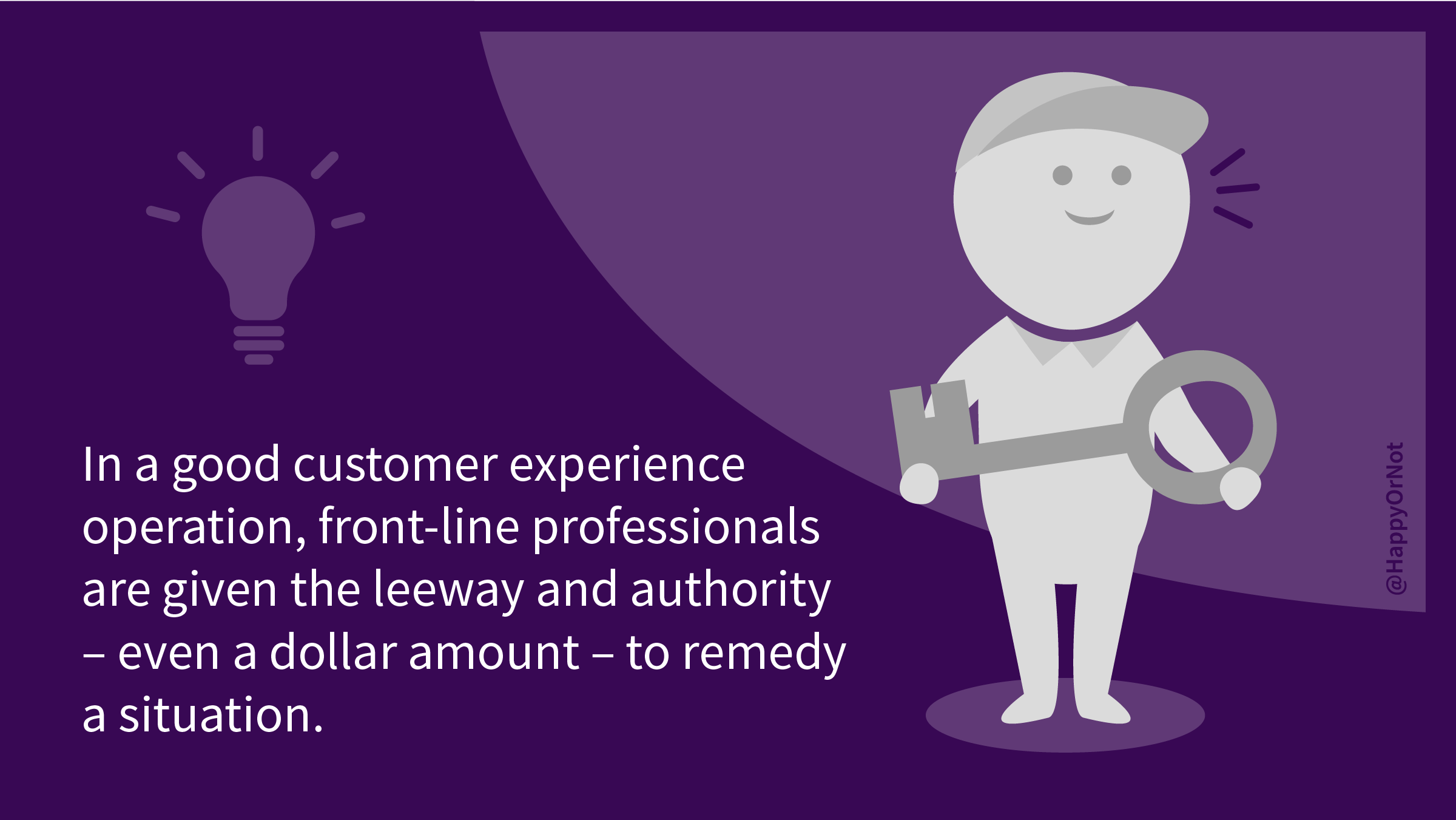 HappyOrNot CX360 Leader Insights: Part 3: In a good customer experience operation, front-line professionals are given the leeway and authority - even a dollar amount - to remedy a situation.