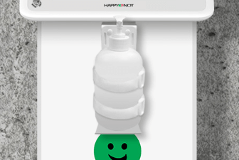 hand disinfectant holder for smiley terminals