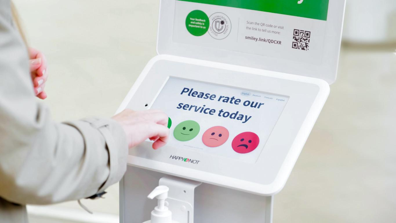 Smiley Touch with antimicrobial and hand sanitizer