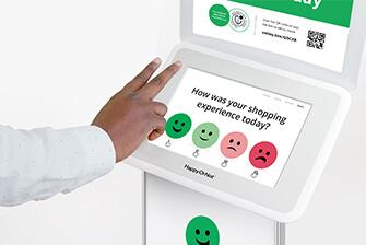 smiley touch terminal with gesture support
