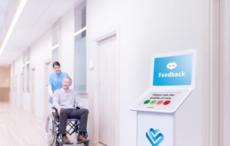 Smiley Touch in hospital, healthcare setting
